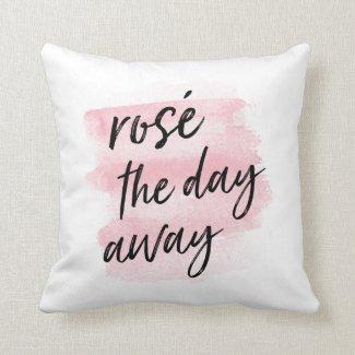 Rosé the Day Away Throw Pillow Throw Pillow 16