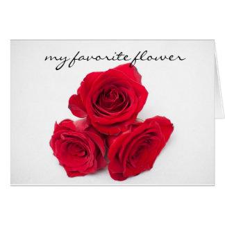 Rose theme loving card
