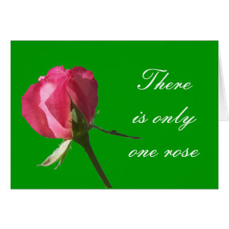 rose There is only one rose Card