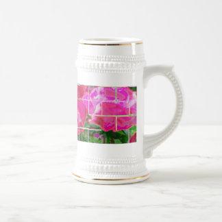 Rose Tiles Beer Stein