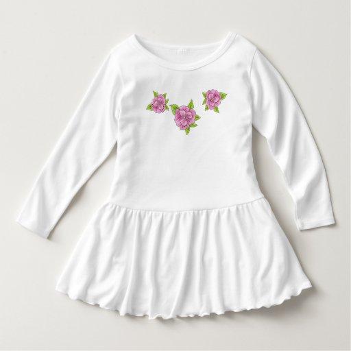 Rose Toddler Ruffle Dress