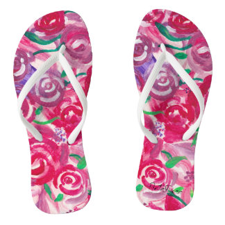Rose Toes Flip Flops