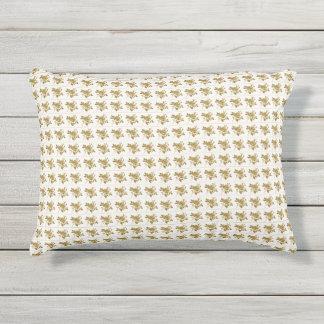 Rose_Toile_Gold(c) OUTDOOR-Pillows Outdoor Pillow