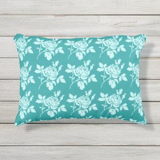 Rose_Toile_Jade(c) OUTDOOR-Pillows Outdoor Pillow