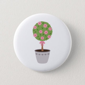 Rose Topiary Pinback Button