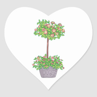 ROSE TOPIARY HEART STICKER