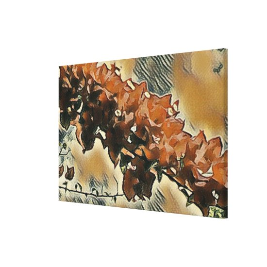 Rose Tree Art Canvas Print