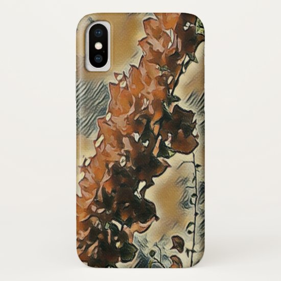 Rose Tree Art iPhone X Case