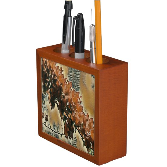 Rose Tree Art Desk Organizer