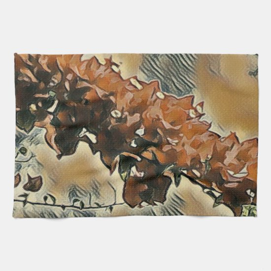 Rose Tree Art Kitchen Towel