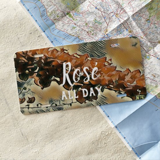 Rose Tree Art License Plate