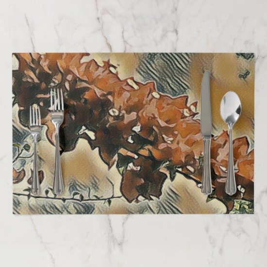 Rose Tree Art Paper Placemat