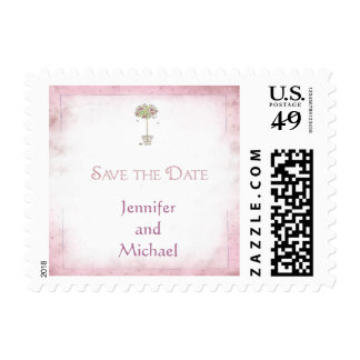 Rose Tree Save the Date Postage