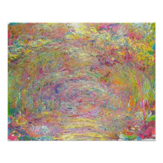 Rose Trellis by Monet Poster
