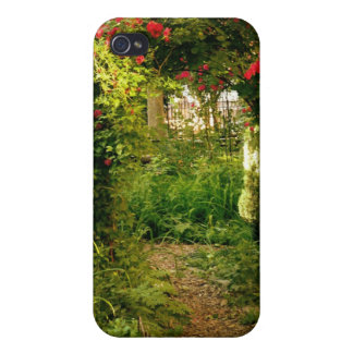 Rose Trellis Over Garden Path iPhone 4/4S Cover