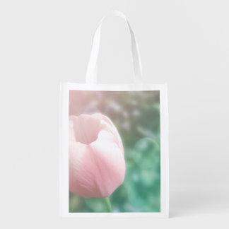 Rose tulip dreamy photo reusable shopping bag
