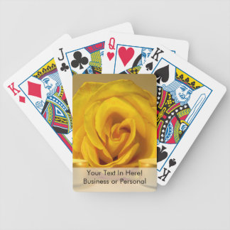 rose two candles bright yellow flower bicycle playing cards