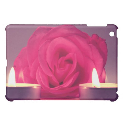 rose two candles dark pink floral image cover for the iPad mini