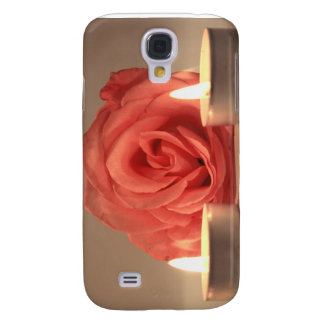rose two candles pink floral photo samsung galaxy s4 case