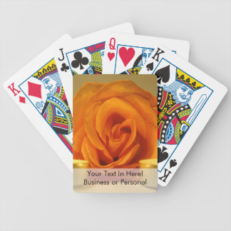 rose two candles yellow orange floral flower image bicycle playing cards