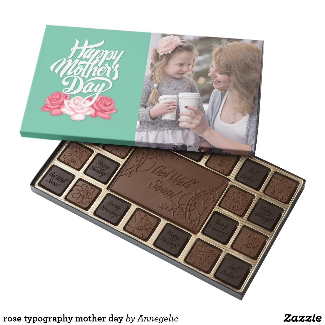 rose typography mother day assorted chocolates