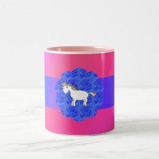 Rose unicorn Two-Tone coffee mug