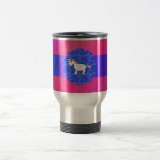 Rose unicorn 15 oz stainless steel travel mug