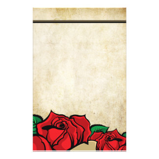 Rose Urban Tattoo Themed Stationery