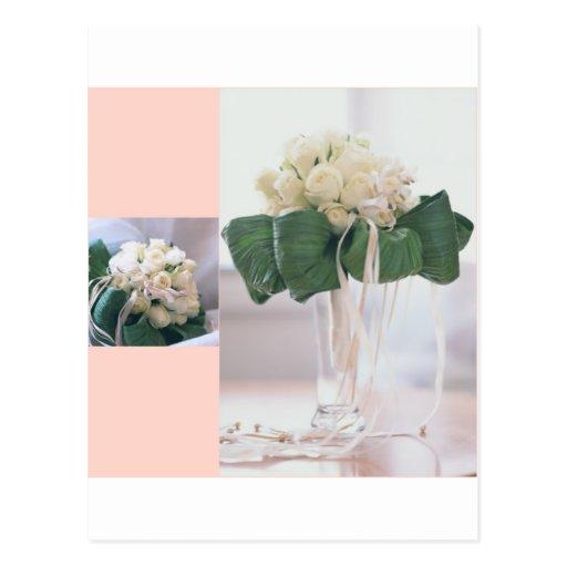 Rose_vase_ribbons Tarjeta Postal