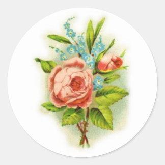 rose vignette sticker