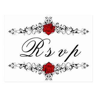 Rose Vine RSVP Postcard