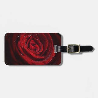 Rose Vines Heart Pattern Flower Peace Love Destiny Luggage Tag