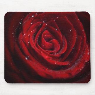 Rose Vines Heart Pattern Flower Peace Love Destiny Mouse Pad