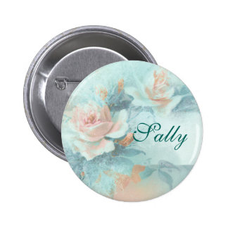 Rose vintage mothers love PERSONALIZE Button