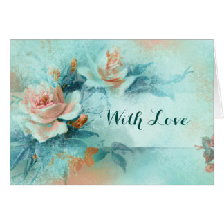 Rose vintage mothers love PERSONALIZE Card