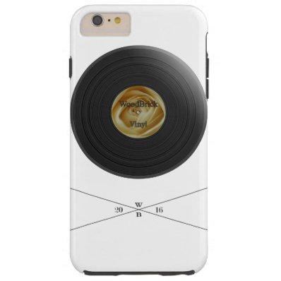 Rose Vinyl/disc imprint with white bloom label Tough iPhone 6 Plus Case