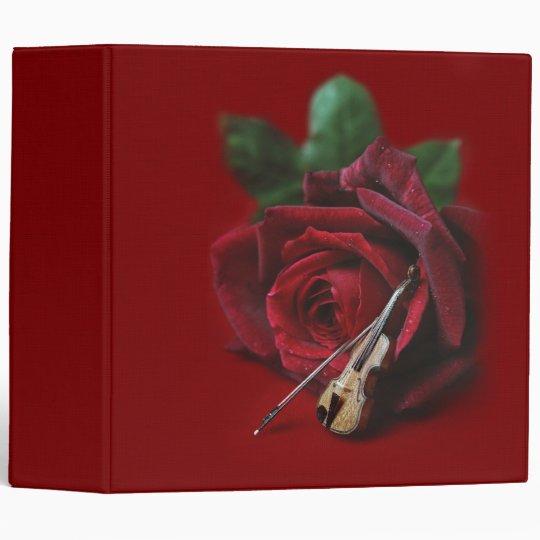 Rose & Violin Binder