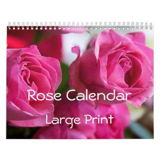Rose Wall Calendar Large Print