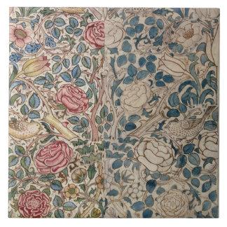 'Rose' wallpaper design (pencil and w/c on paper) Ceramic Tile
