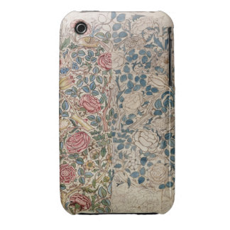 'Rose' wallpaper design (pencil and w/c on paper) iPhone 3 Cover