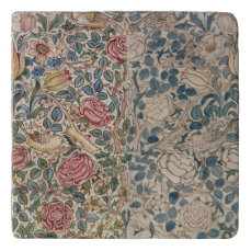 'Rose' wallpaper design (pencil and w/c on paper) Trivet