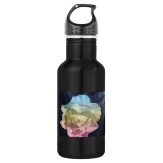 Rose water bottle, multiolor 18oz water bottle
