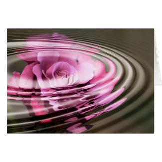 Rose Water Greeting Card