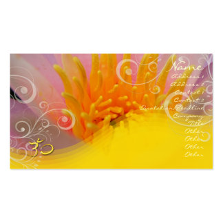 Rose water lilly + pearly swirls om Business card