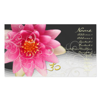 Rose water lilly+pearly swirls+om diy background business card template