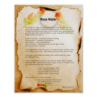 ROSE WATER POSTER