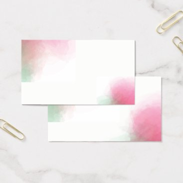 Professional Business Rose Watercolor Business Cards