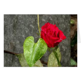 Rose Watercolor Card