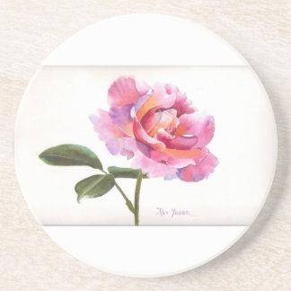 Rose Watercolor Coaster