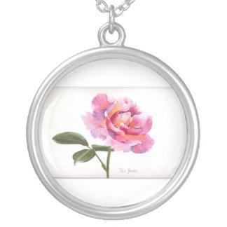 Rose Watercolor Custom Necklace